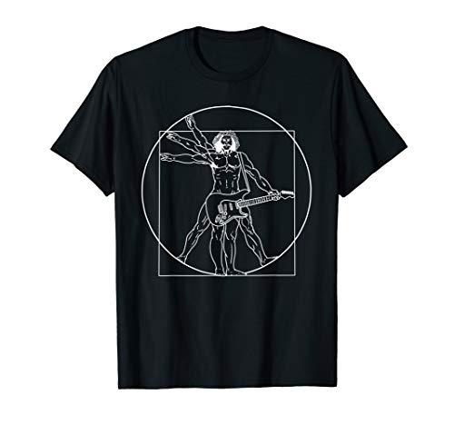Vitruvian Man Guitar Shirt Da Vinci Guitarist T-Shirt Gift