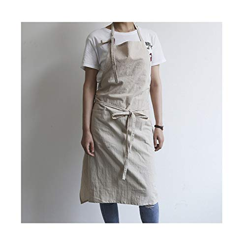 huayun 2019 New Nordic Winds Cotton Linen Adjustable Baking Cooking for Chef Kitchen Aprons for Woman Man Home Wear,9,93X100Cm - Love I Chefs Hat Lucy