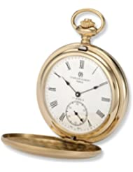 Charles-Hubert, Paris 3908-GR Premium Collection Gold-Plated Stainless Steel Satin Finish Double Hunter Case Mechanical...