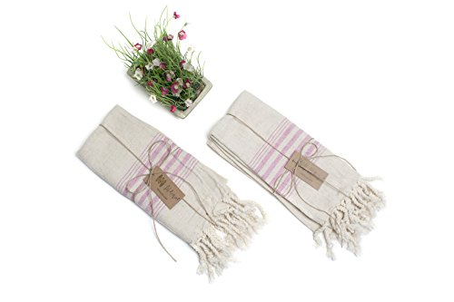 bf6280d058 on sale Set of 2 Linen Premium Quality Tea Towel Natural in Color and Eco-