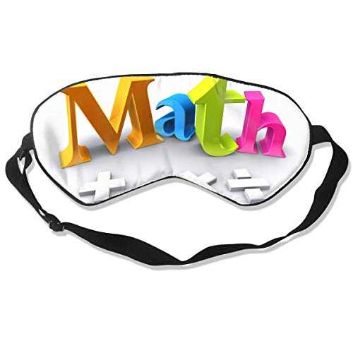 Eye Mask Eyeshade Math Picture Sleeping Mask,Blindfold Eyepatch,Adjustable Head Strap -