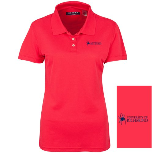 NCAA Richmond Spiders Women's Ladies' Classic Pique Polo, Cardinal, (Cardinals Classic Pique Polo)