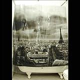 Exclusive Izola Designer Shower Curtain - Paris