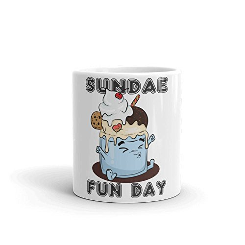 Sunday funday family day or maybe some ice cream sundae for the day, Whatever sunday funday ideas you might have make it a funday, Sunday fu, 11oz, 15oz, gift