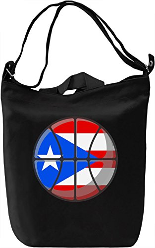 Puerto Rico Basketball Borsa Giornaliera Canvas Canvas Day Bag| 100% Premium Cotton Canvas| DTG Printing|