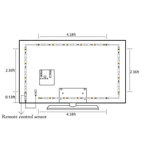BASON USB LED TV Hintergrundbeleuchtung 60 65 70 75 Zoll Beleuchtung ...