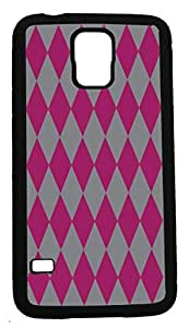 Blueberry DesignSamsung Galaxy S5 Case Cases Diamond Pattern Design Raspberry and Grey - Ideal Gift