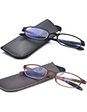 Computer Blue Light Blocking Reading Glasses(Flexible and Lightweight) Plastic Portable Readers