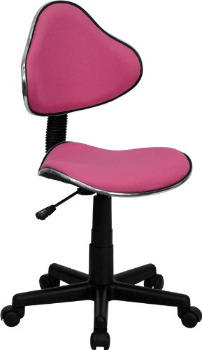 Flash Furniture BT-699-PINK-GG Pink Fabric Ergonomic Task Chair
