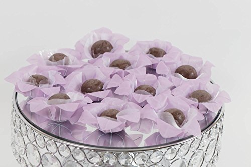 Wedding Chocolates Wrapper - Luxury Wedding - Handmade Fabric Truffle Cups, Truffle Liners, Truffle Wrappers - Pack of 20 - Truffilio (Luxury Handmade Chocolates)