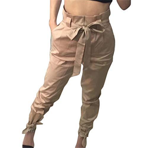 con Taglie Pantaloni Casuale Pantaloni A Piedi Alta Fit Moda Pantaloni Tasche Stretti Donna Comodi Cachi a Streetwear Slim Lunghi Wita Forti UZwScqBqWy