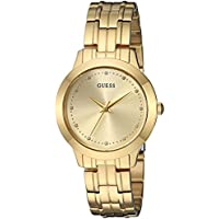 GUESS Women's Stainless Steel Petite Casual Watch, Color: Gold-Tone (Model: U0989L2)