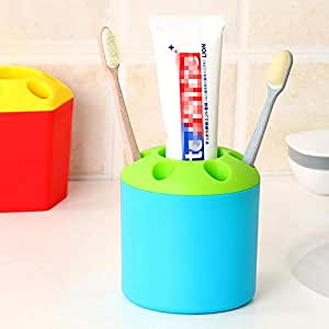 Cute Multi-functional Porous Desktop Pen Container Toothbrush Toothpaste Holder