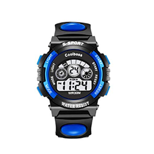 Tmrow Kid Watch 50M Waterproof Sport LED Alarm Stopwatch Digital Child Quartz Wristwatch for Boy Girl ()