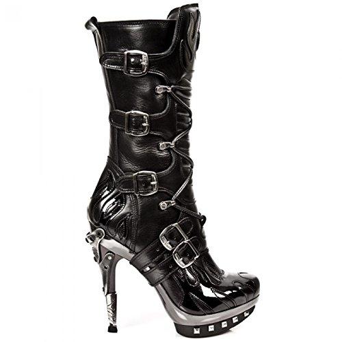 Nuovi Stivali Da Roccia M.punk023-s1 Gotico Hardrock Punk Damen Stiefel Schwarz