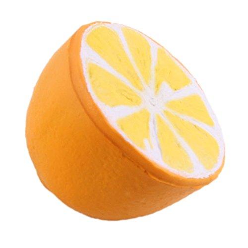 Skedee Slow Rising Squishies Slice Squishy Lemon Toy Cream Scented Hand Wrist Toy (Orange Donut)