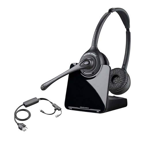 Plantronics CS520 Binaural Wireless Headset System with EHS Cable APV-60, Bundle for Polycom Phone - Bundle Lifter Hl10