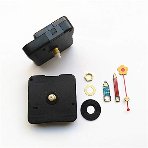 Maslin 50PCS DIY Clock Quartz Clock Sweep Movement Mechanism with Metal Flower Pencil Hands