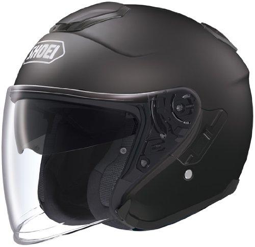 Shoei J-Cruise Solid Open Face Motorcycle Helmet - Matte Black, Medium