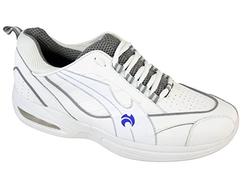Henselite Tiger Sports Mens White Trainer Style Bowls Shoes