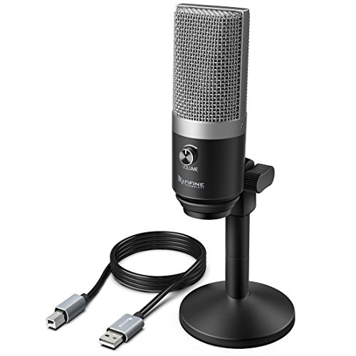 USB Microphone,FIFINE PC Microphone for Mac and Windows Computers,Optimized for Recording,Streaming Twitch,Voice overs,Podcasting for Youtube,Skype (Usb Uni Directional Microphone)