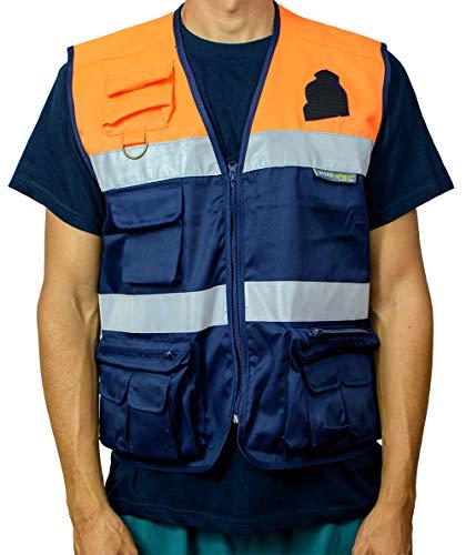 Chaleco Protección Civil (3XL, MARINO/NARANJA): Amazon.es: Industria, empresas y ciencia