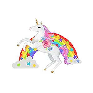 Bamsod Unicorn Wall Stickers Rainbow Kids Wall Decal Art Girls Bedroom Nursery Home Decor 11 inch x 13 inch