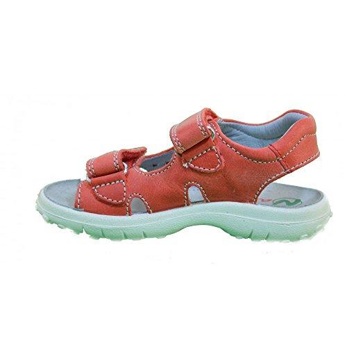 Naturino Kindersandale 5670 rote Mädchen-Sandale Ledersandale