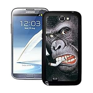Conseguir Ardiendo orangutang estuche rígido patrón de color 3d efecto para Samsung Galaxy Note N7100 ii