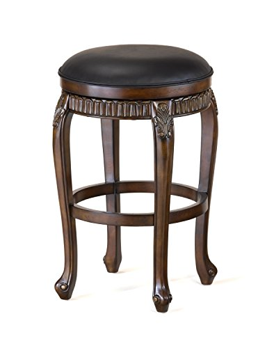 Hillsdale 62993 Fleur de Lis Backless Swivel Counter Stool, 24