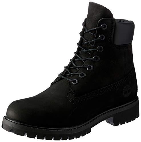Nubuck Waterproof Boot - Timerbland Men's 6 inch Premium Waterproof Boot, Black Nubuck, 16