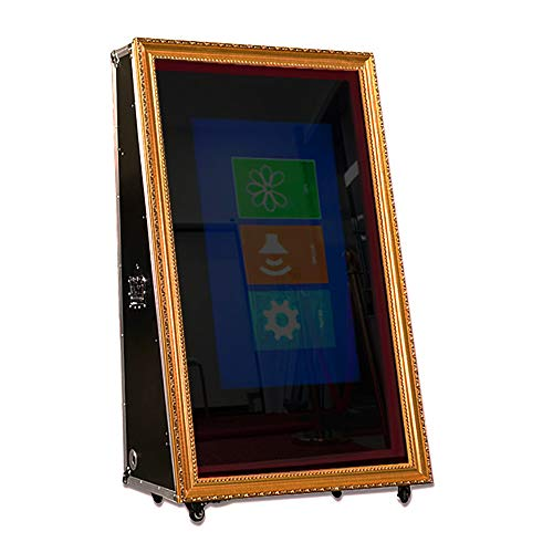 Photo Booth Props, Portable Selfie Mirror with HD 1080p Screen and Infrared Touch Frame, Event and Party Supplier for Wedding Birthday Restaurant Mall Without DSLR Camera(65 INCH)