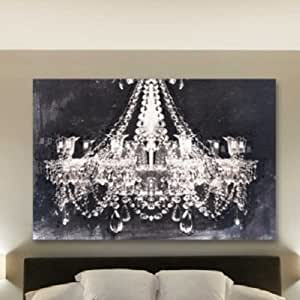 Amazon Canvas Wall Art Glam Chandelier Black and