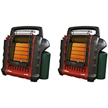 Mr. Heater Portable Buddy Camping, Job Site, Hunting Propane Gas Heater- 2 Pack (Renewed)