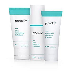 Proactiv+ 3 Step Advanced Skincare Acne Treatment – Benzoyl Peroxide Face Wash, Salicylic Acid Exfoliator for Face And…