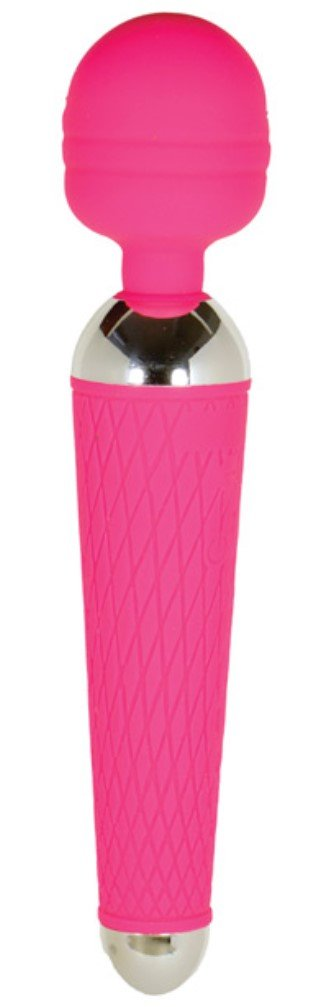 New Pink Silicone Closet Collection Loretta Full-Body Magic Wand Massager - Body-Safe Silicone - 10 Versatile Functions - USB-Rechargeable - Travel Ready - 1 Year Warranty!
