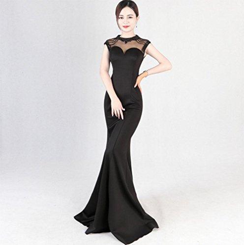 war dünn 1 Gastgeber Catwalk Mode Hochzeit Abschnitt Schwanz weiblichen Kleid langen MEILI Abendkleid Schlank TYwAU
