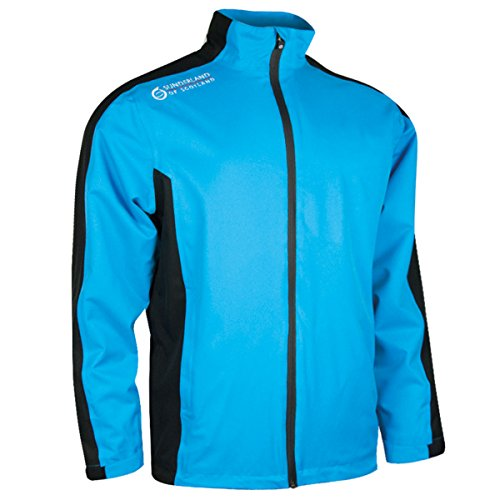 Sunderland Men's Vancouver Waterproof Golf Jacket Azure Blue/Black/White L