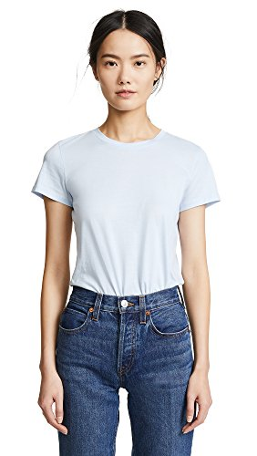 Vince Women's Essential Crew Tee, Powder Blue, Large (Tee Jersey Vince Pima)