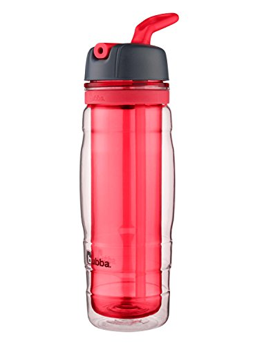 bubba Raptor Kids Dual-Wall Insulated Water Bottle with Flip-Up Straw, 16 oz., Coral Reef