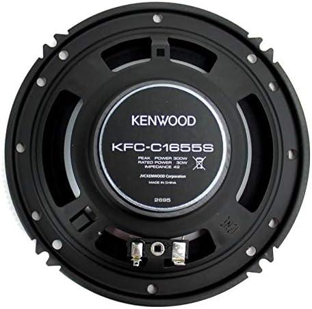 4 New Kenwood KFC-C1655S 6.5 600 Watt Car Audio Coaxial Speakers Stereo