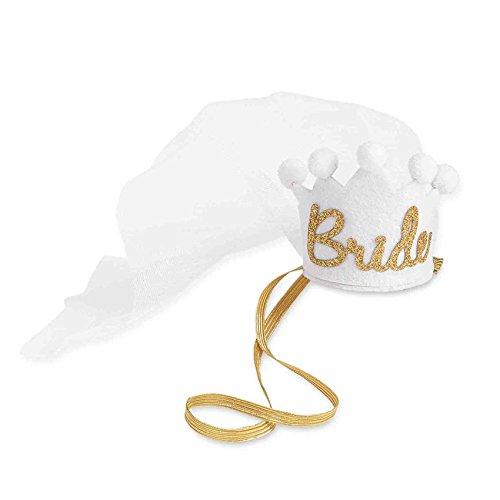 Mud Pie Bride to Be Crown with Veil (Felt Tiara)