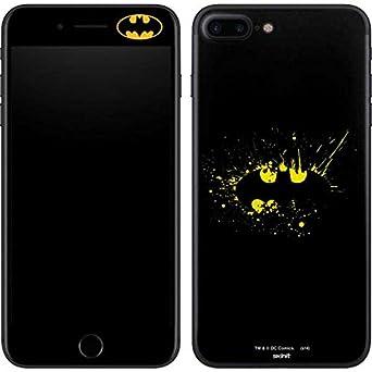 new concept b0e71 e9469 Amazon.com: Skinit Batman Logo Yellow Splash iPhone 7 Plus Skin ...