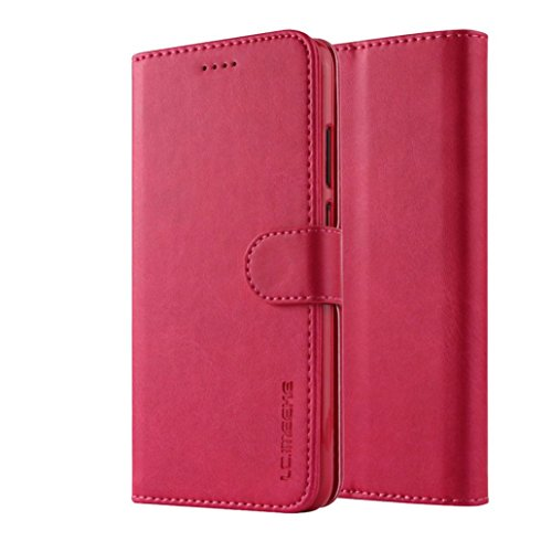 Price comparison product image MChoice for Huawei P20 Pro Magnetic Flip Card Wallet Leather Case Cover (Red)