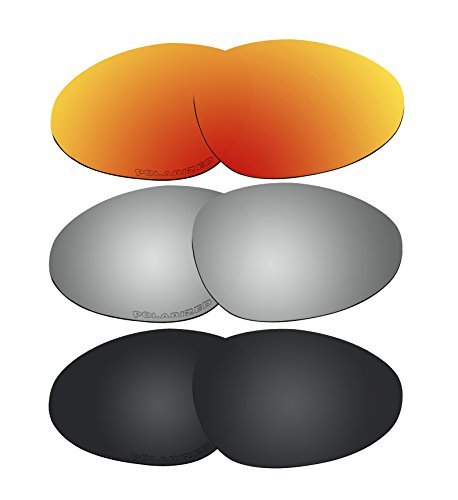 3 Pairs Polarized Lenses Replacement W1 for Oakley Warden - Sunglasses Warden