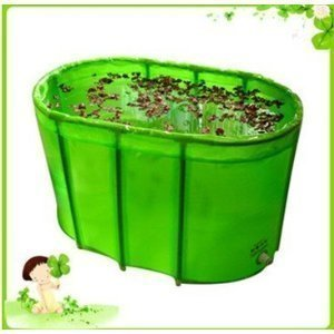 Wholesale Green double folding bathtub / bath tub /with cover and cushion for lover by pdera