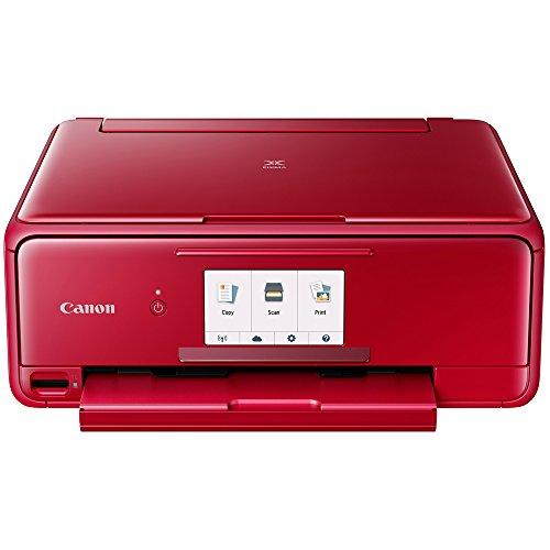 Canon PIXMA TS8120 Wireless Printer w/Scanner & Copier Red + Warranty Bundle by Canon (Image #1)
