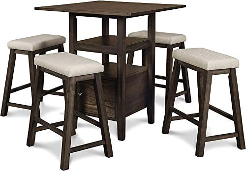New Classic Furniture Derby Counter Table 4 Stool Set