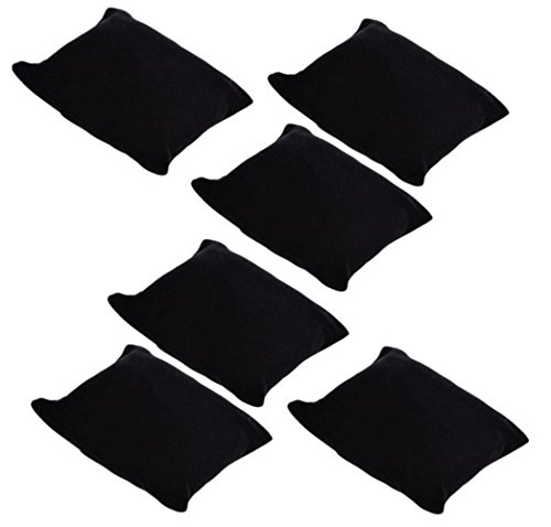 JUMUU 6Pc Black Velvet Pillow Bracelet, Watch, Bangle Jewelry Display Stand Set (Black)