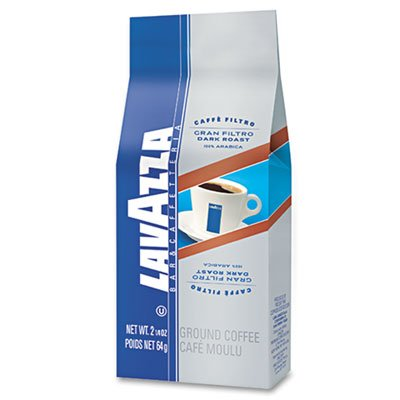 Lavazza Gran Filtro Italian Dark Roast Coffee, 2.25 oz., Ground Fraction Pack, 30/Carton (Lavazza Gran Filtro Ground Coffee)